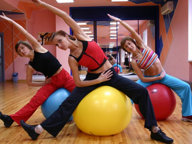 фитнес мяч для похудения