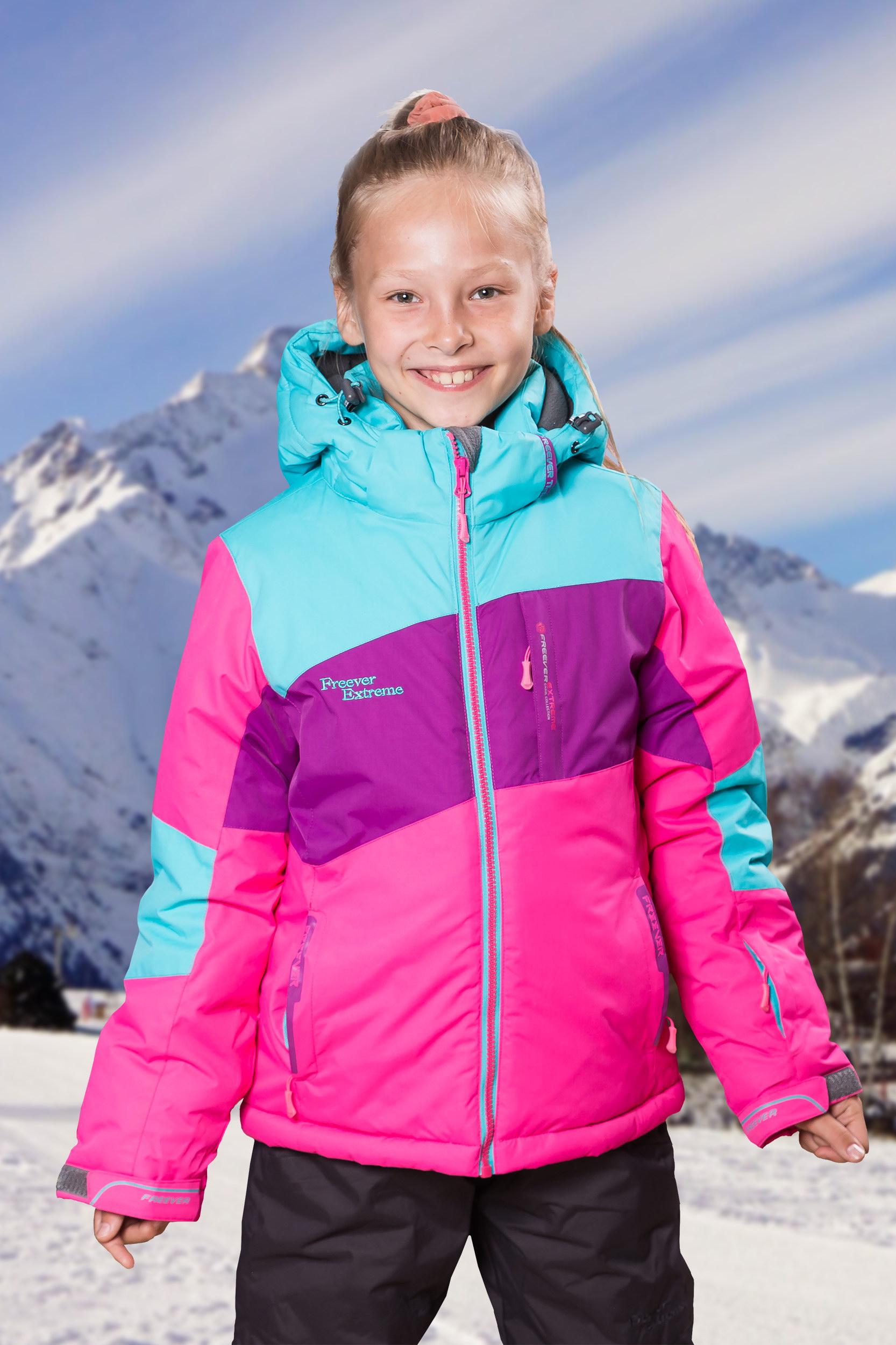58f7c40becf6 Детская лыжная куртка для девочек FREEVER 27025 купить в Киеве ...