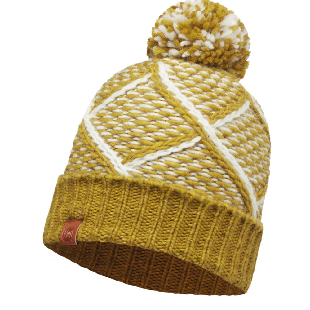KNITTED HAT BUFF® PLAID TOBACO