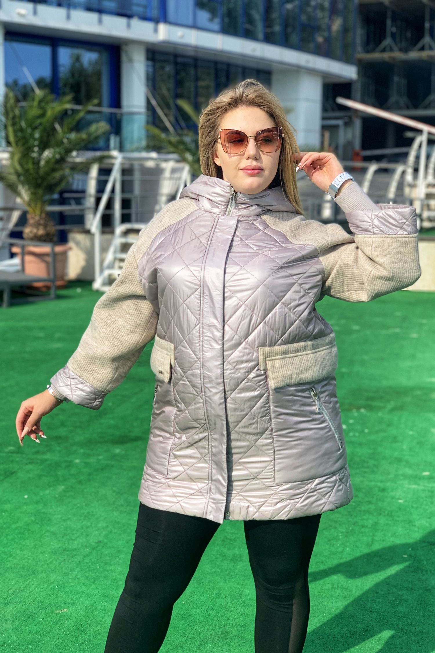 Куртка женская удлиненная батал FREEVER 79296