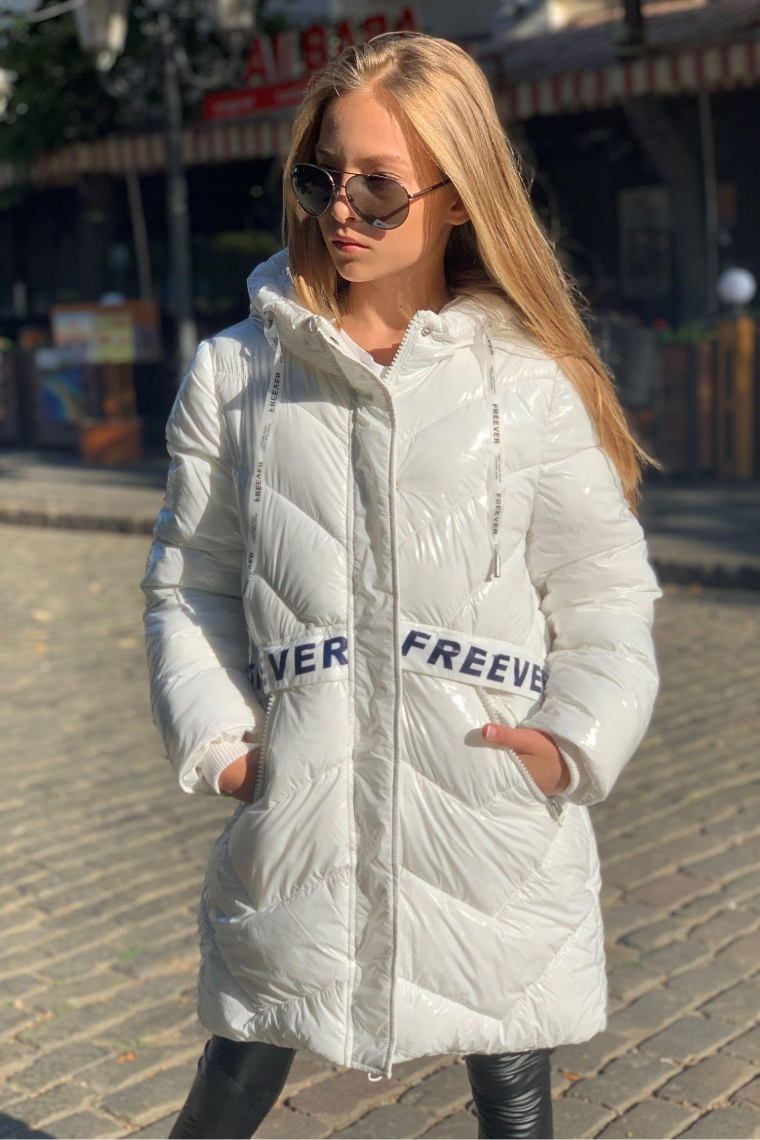 Детское пальто для девочек FREEVER 4407